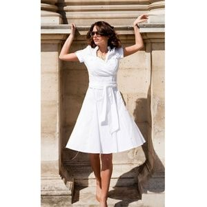 Shabby Apple White Bonheur Wrap Top Dress